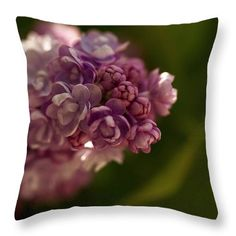 Lovely Lilac Throw Pillow for Sale by Helen Kelly