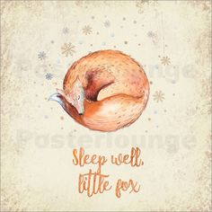 UtArt - Sleep well little fox- Fuchs Illustration & Typografie