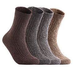 Lian LifeStyle Mens 3 Pairs Wool Blend Socks HR1691 Casual Solid Size 6-9