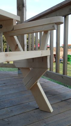 Show off the projects you've built. Find project inspiration and free plans. Pallet Projects, Woodworking Projects, Projects To Try, Folding Picnic Table, Bench, Outdoor Decor, Inspiration, Furniture, Kreg Jig