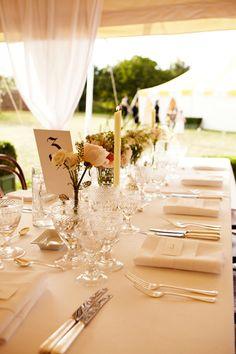 Kate Moss' wedding table decor