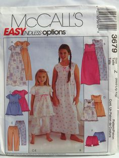 b7443608f96c McCall s 3679 Children s and Girls  Nightgown