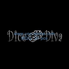 Dice Diva Rhinestone Motif For Girls Dresses