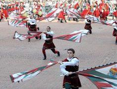 Dazzling Flag Dancing in Ferrara, Italy
