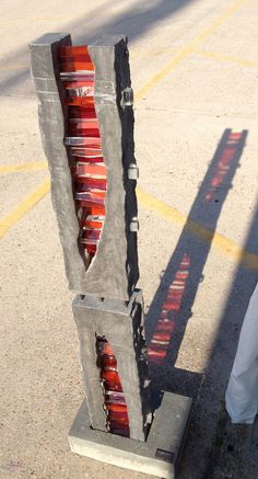 Michael Eddy Artist :: Concrete and Glass Sculptures : Michael Eddy Artist Rock Sculpture, Concrete Sculpture, Concrete Art, Outdoor Sculpture, Fused Glass Art, Stained Glass, Beton Design, Glass Garden Art, Minimalist Art