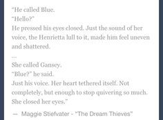 Gansey and Blue, otherwise known as the death of me.