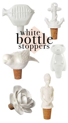 Wine bottle stoppers with characters ... add whatever you like and keep your wine from going stale.