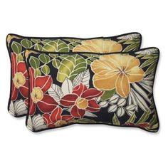 Pillow Perfect Clemens Noir Indoor/Outdoor Lumbar Pillow Size: H x W x D Outdoor Cushions And Pillows, Buy Pillows, Floor Pillows, Decorative Throw Pillows, Outdoor Pillow, Seat Cushions, Lumbar Throw Pillow, Throw Pillow Sets, Pillow Talk