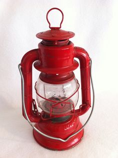 Dietz Hurricane Lantern Vintage  RED No 50 by LollysCubbyhole, $30.00