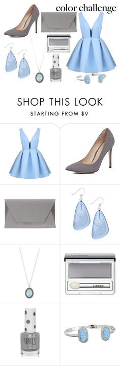 """Blue and Silver"" by mermaidfairy on Polyvore featuring River Island, Noee, Style & Co., Armenta, Clinique, Topshop and Kendra Scott"