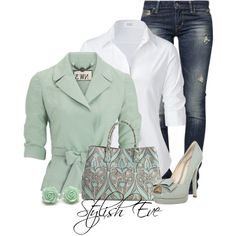 Steffen Schraut blouses, Hobbs NW3 blazers and GUESS jeans.