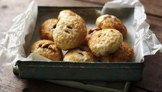 Eccles cakes - easy, flaky cakes encasing a spiced, fruity filling