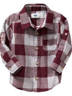 Buffalo-Plaid Shirts for Baby boy