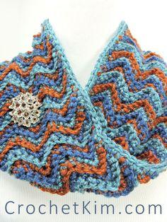 CrochetKim Free Crochet Pattern | Beach Sunset Cowl