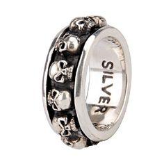 Lucky Thai Silver Skull Ring For Men by alanatt