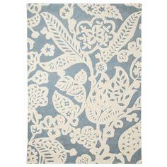 Threshold™ Wool Floral Area Rug - Blue/Cream : Target Mobile