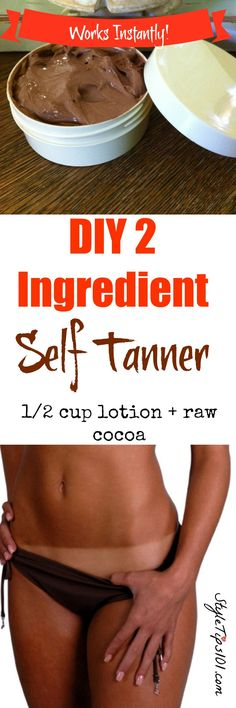 Works SO well and super easy to prepare! No orange streaks, just a perfect tan :)