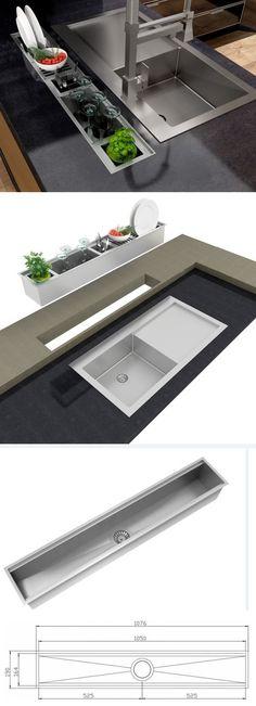38 New Ideas Kitchen Utensils Rack Kitchen Sink, Kitchen Storage, Kitchen Decor, Kitchen Utensils, Kitchen Ideas, Steel Kitchen Cabinets, Cuisines Design, Interior Design Kitchen, Kitchen Accessories