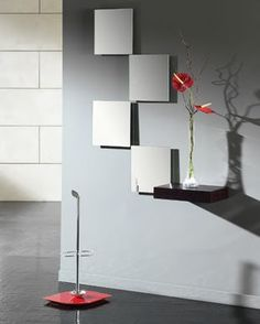 decoração com espelhos quadrados pequenos - Pesquisa Google