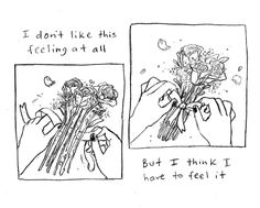 "colleenclarkart: ""a small comic about tying up/tying together loose ends """