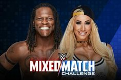 During a recent interview with TVInsider.com, Carmella commented on being teamed up with R-Truth for the Mixed Match Challenge: