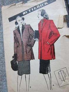 1944 style coats | 1944 Pink Wool Coat – Sewing Projects | BurdaStyle.com