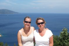 Daughter Katie with my wife Vaughan...Kefalonia 2007