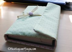 Sewing - Book Jacket Tutorial