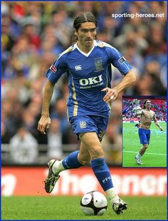 Pedro Mendes - Portsmouth FC - 2008 F.A. Cup Final (Winners) England Shirt, Portsmouth, Finals, Strong, Football, Memories, Island, Running, Baseball Cards