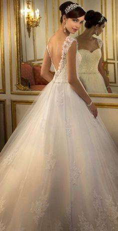 Vestido de novia espalda libre