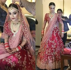 Pinterest • @bhavi91 Indian Bridal Outfits, Pakistani Wedding Outfits, Indian Bridal Lehenga, Indian Bridal Wear, Wedding Attire, Indian Dresses, Eid Dresses, Bridal Dresses, Wedding Lehanga