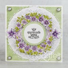 Climbing Clematis, Clematis Flower, Foam Adhesive, Photo Corners, Heartfelt Creations, Flower Shape, Greeting Cards Handmade, Creative Inspiration, Cardmaking