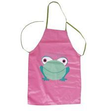 Frog Pattern Fabric Cooking Aprons For Children Craft Party Painting DIY Fun