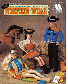 When Barbie and Ken go to the ranch or the western club they will need a whole new wardrobe. This booklet fulfills that need with cowboy hats,