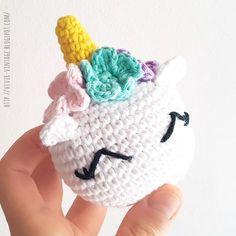 English pattern with pictures // patron gratuito unicornio amigurumi crochet