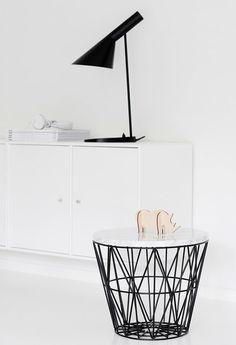 Via Nordic Leaves | Black and White | AJ Desk Lamp | Ferm Living