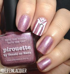 Picture Polish Pirouette nail art.