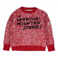 Pull Jacquard Moutain Rouge