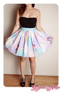DISNEY Princess SKIRT Handmade Diy Bow High Waisted Birthday Party Pink Blue. $45.00, via Etsy.
