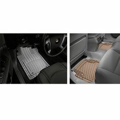 WeatherTech All Vehicles Mats (front and rear)  -$49.95- Keep your carpet like new  These high quality WeatherTech® Trim-to-Fit™ All Vehicle Mats are engineered to fit virtually every vehicle. They are universal-type Mats but have a unique shape for the driver and passenger floor with pre-formed lines to indicate where to trim to make a custom-like fit for your vehicle. Tall outer ridges plus deep channels guide liquid to the lower half of the Mat.