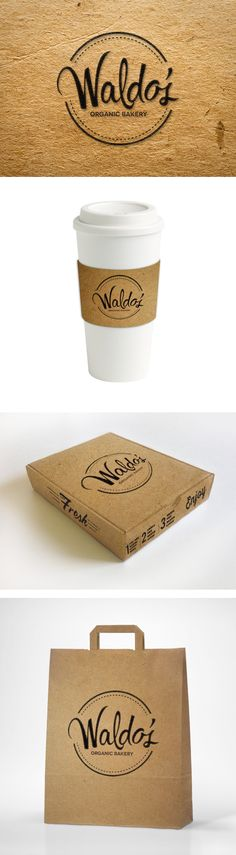 Waldo's Organic Bakery by Karielys Cruz, via Behance                                                                                                                                                                                 More