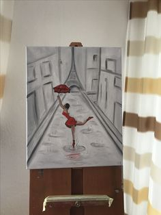 """""""Tanzen im Regen """" in Öl gemalt"""