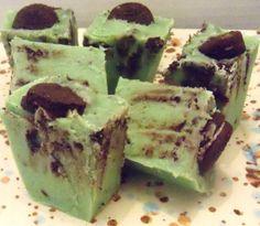Mint chocolate oreo cookie fudge!