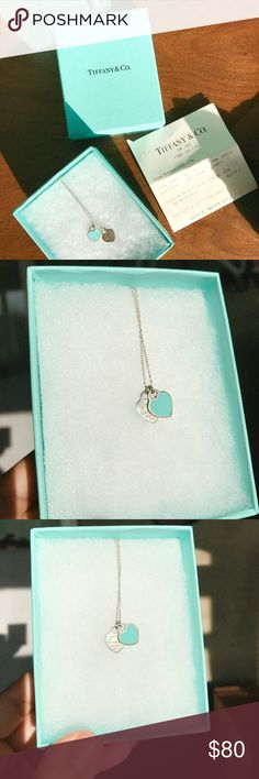 Tiffany & Co Heart Necklace •Used but in great condition! •Very minimal scratches  •Original packaging included •Authentic with gift receipt included Tiffany & Co. Jewelry Necklaces
