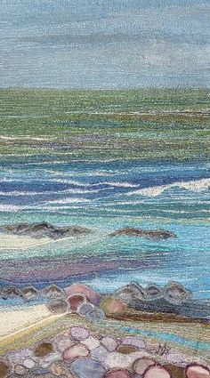 "Textile Seascapes, Noami Renouf ""My seascapes and landscapes reflect my love for…"