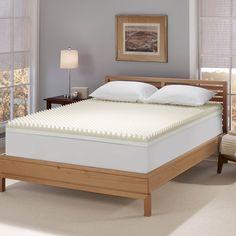 4 Inch Memory Foam Mattress Topper  #mattresses #mattress #mattresstopper #mattresspad #matresscover