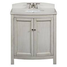 Vanity Bathroom Canada glacier bay - lancaster 36 inch combo in white - lc36p2comc-wh