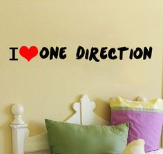 One Direction Wall Sticker. $33.00, via Etsy.