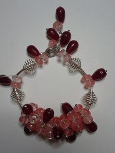 cherry quartz, ruby bracelet
