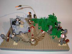 WW 2 Eastern Front 2 Lego Ww2, Lego Army, Lego Construction, Lego Design, Military Diorama, Lego Models, Custom Lego, Lego Stuff, Cool Lego
